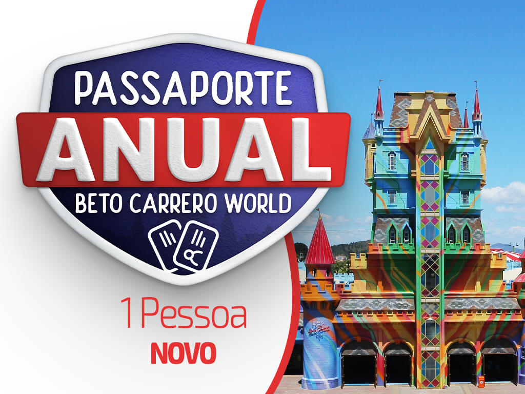 Beto Carrero World Annual Passport Promoção 2019 - 1 Ano - 01 Person